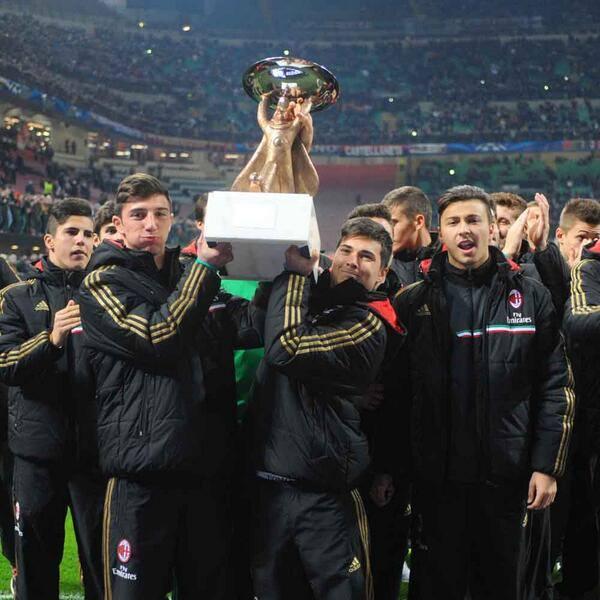 Милан U-19, Алессандро Масталли, Филиппо Индзаги, Марко Пинато, Андреа Петанья