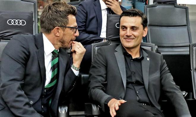 """Винченцо Монтелла: «Победу над """"Сассуоло"""" посвящаем Берлускони»"""